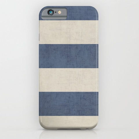 スマホケース vintage dark blue stripes by her art