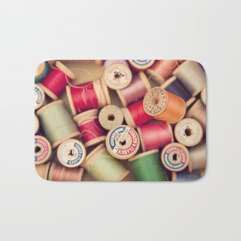 バスマット vintage spools by shannonblue