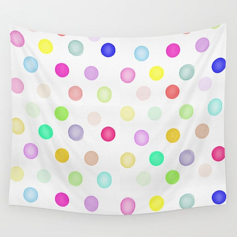 タペストリー Watercolor Polka Dots by Girly Trend