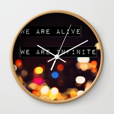 壁掛け時計 We are Alive, We are Infinite by Caleb Troy