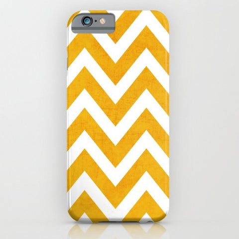 スマホケース yellow chevron by her art