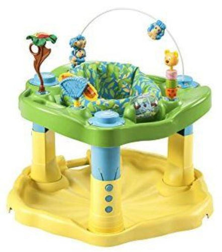 Exersaucer with rotating seat, toys and music