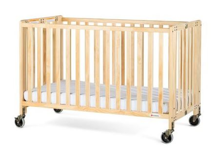 Full size wooden folding crib