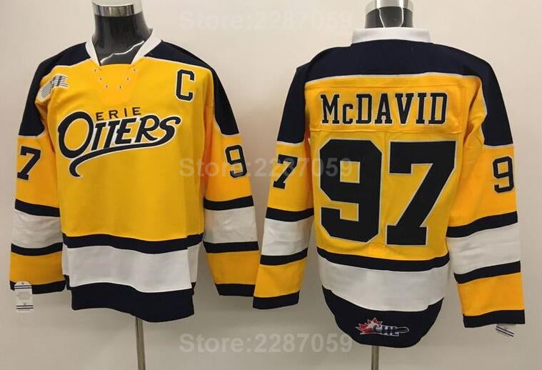 Connor McDavid  97 - Eerie Otters (Blue   Yellow Available) 1334fd6f8