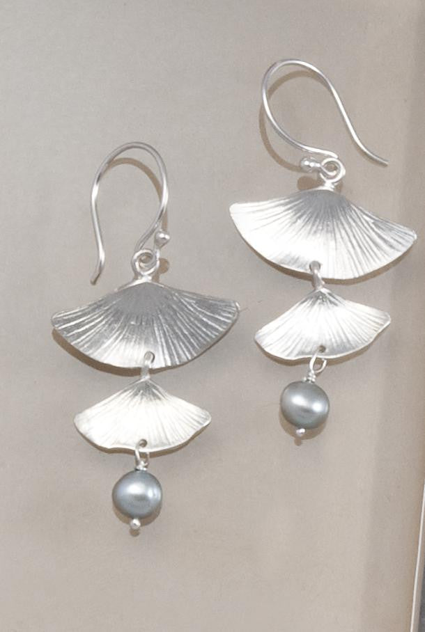 Gingko Double-Drop Earrings