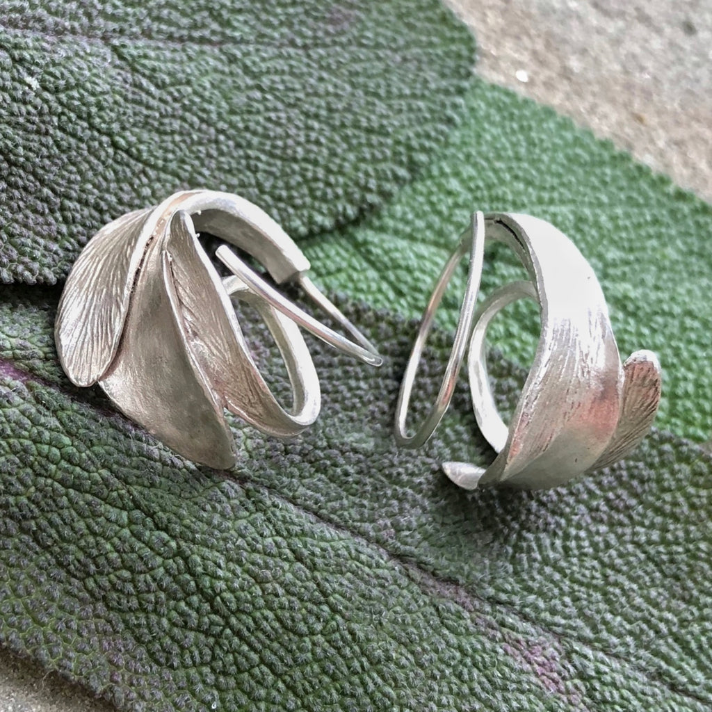 Sage Reverse Hoop Earrings