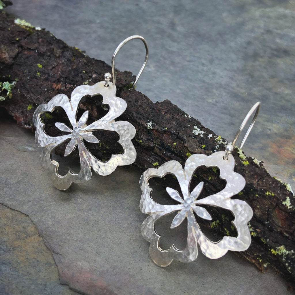 Asian Flower Large Earrings - InBloomJewelry