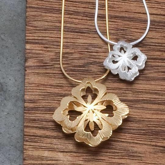 Asian Flower Pillow Pendants - InBloomJewelry