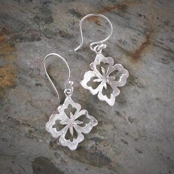 Asian Flower Small Earrings - InBloomJewelry