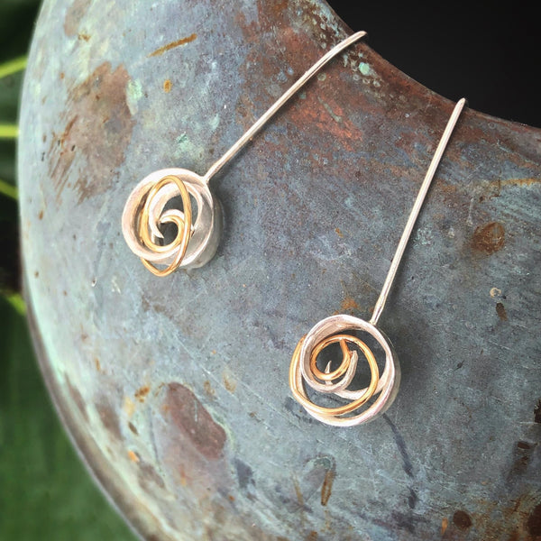 Coil Drop Earrings - InBloomJewelry
