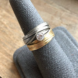 Double Leaf Wrap Ring - InBloomJewelry
