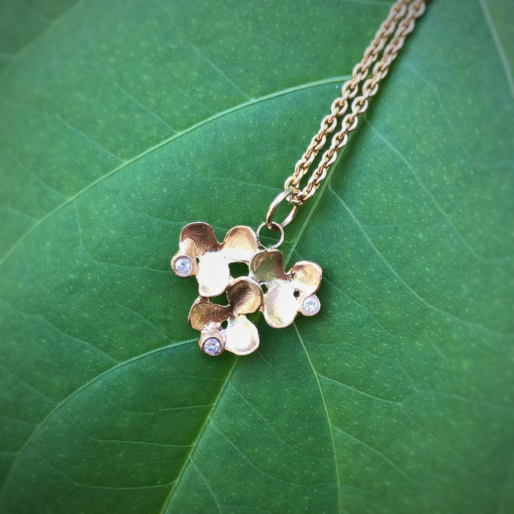 Flower Cluster Small Round Pendant - InBloomJewelry