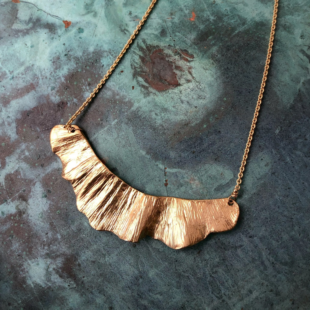 Ginkgo Large Swoop Necklace - InBloomJewelry
