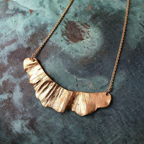 Ginkgo Large Swoop Necklace