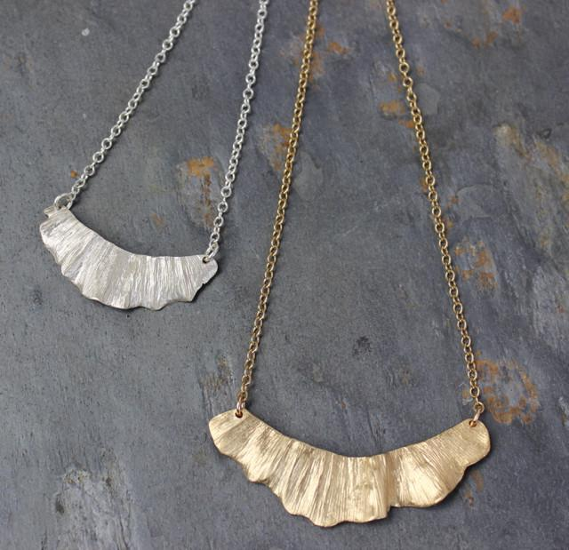 Ginkgo Swoop Necklace - InBloomJewelry