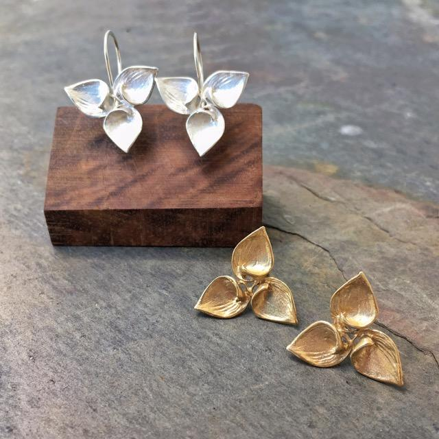 Hosta Triple Earrings - InBloomJewelry