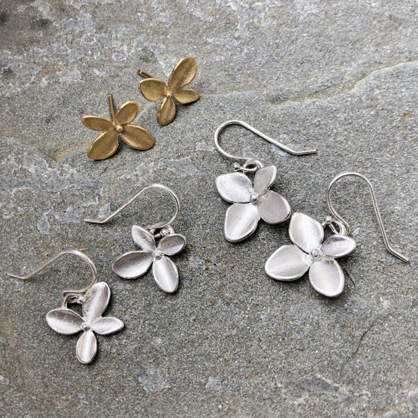 Hydrangea Simple Earrings - InBloomJewelry