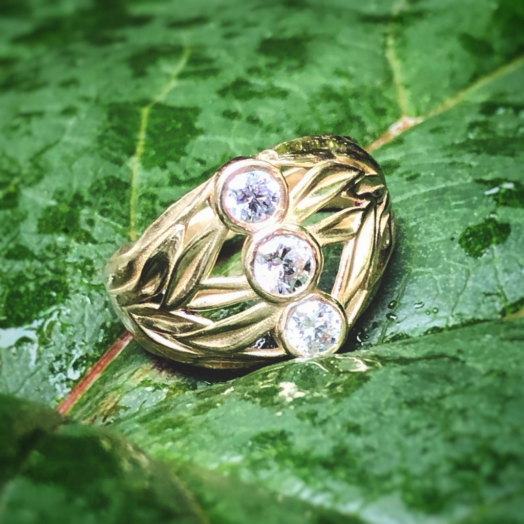 Laurel 3 Stone Ring - InBloomJewelry