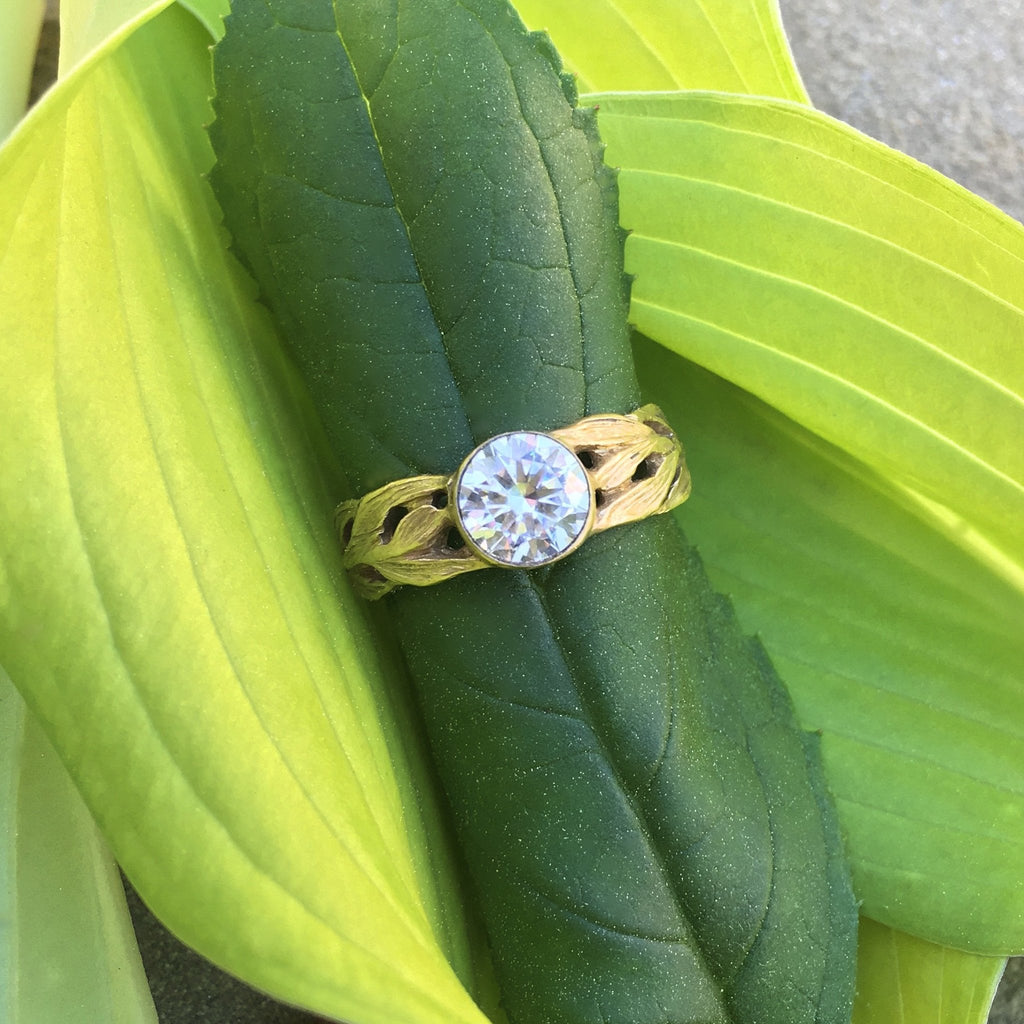 Laurel Wide Engagement Ring - InBloomJewelry