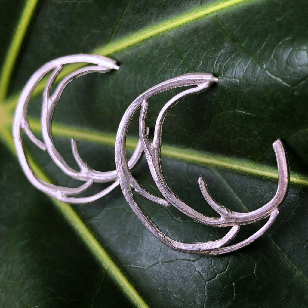 Medium Branch Hoop Earrings - InBloomJewelry