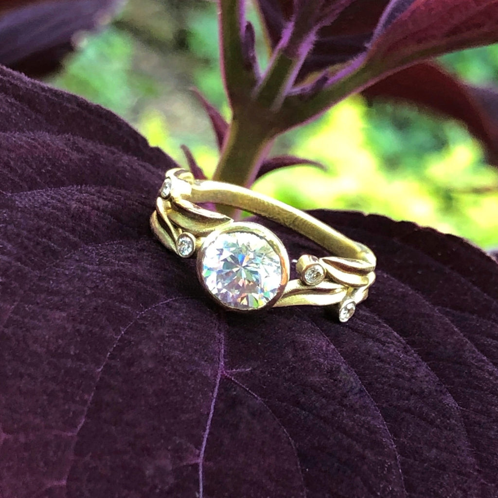Open Leaf Solitaire - 1 ct. - InBloomJewelry