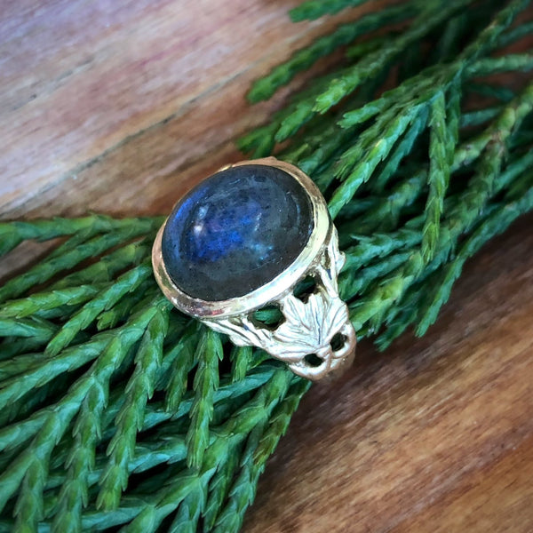Palmette Cabochon Ring - InBloomJewelry