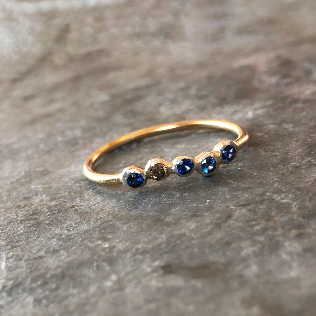 Perfectly Imperfect 5 Stone Ring - InBloomJewelry