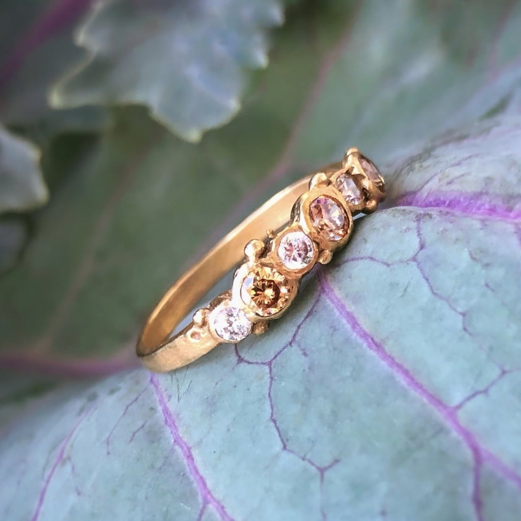 Perfectly Imperfect 7 Stone Band - InBloomJewelry
