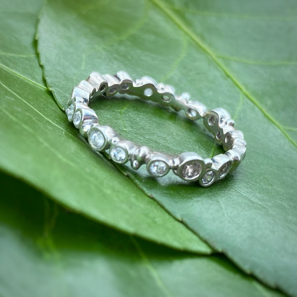 Perfectly Imperfect Thin Eternity Band - InBloomJewelry