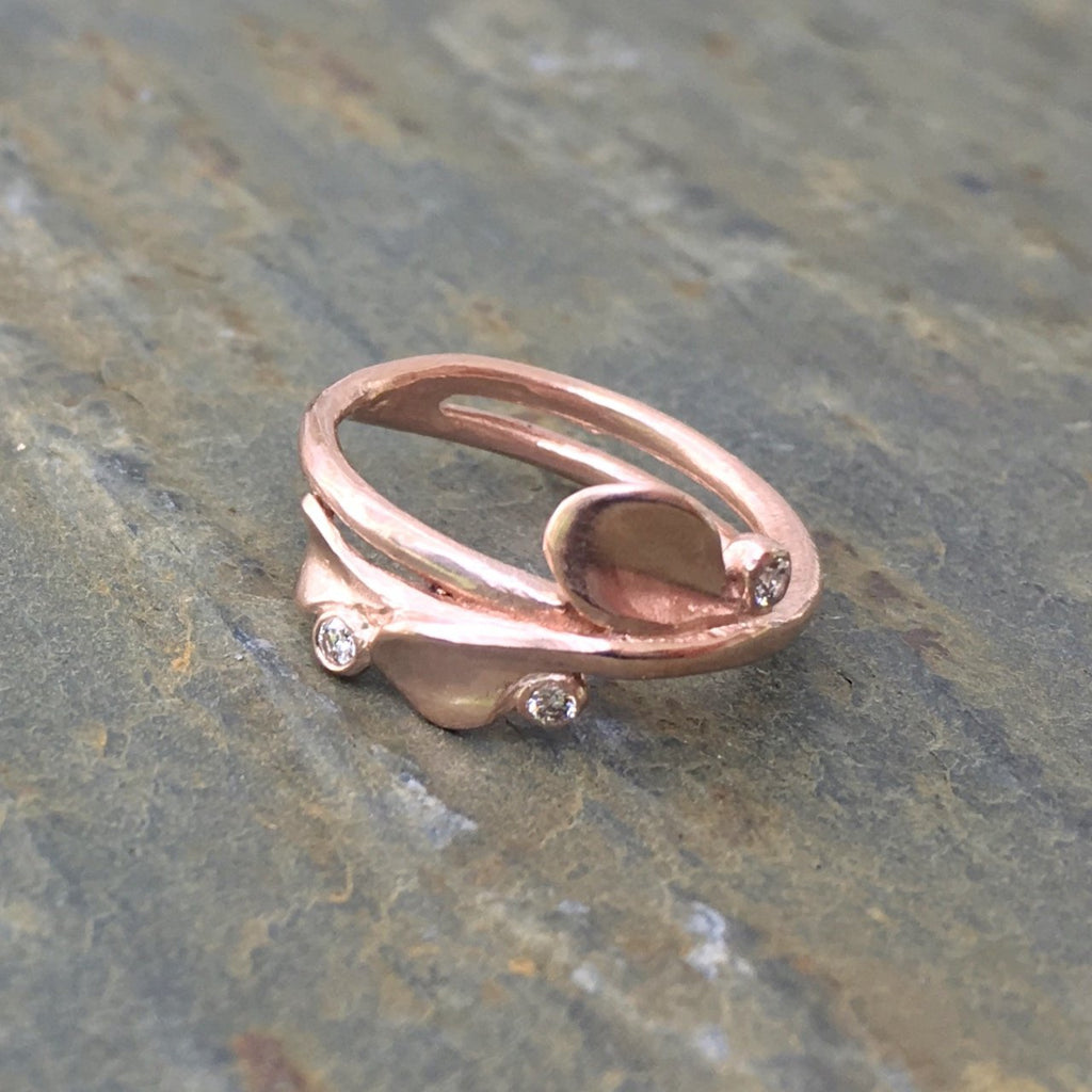 Petal Three Stone Ring - InBloomJewelry