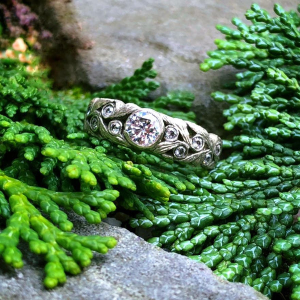 Scroll Engagement Ring - InBloomJewelry