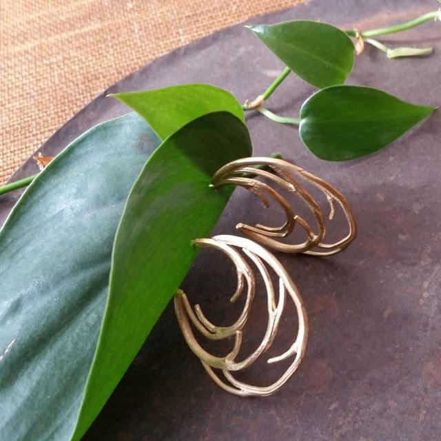 Small and Large Branch Hoop Earrings - InBloomJewelry