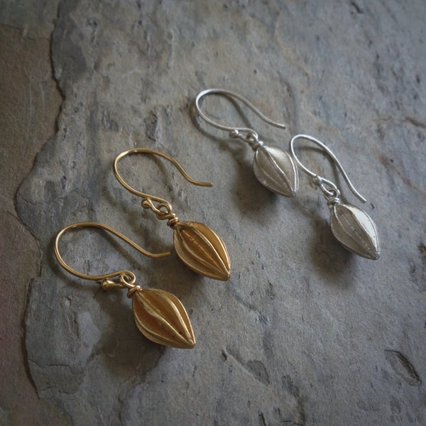 Split Pod Small Earrings - InBloomJewelry