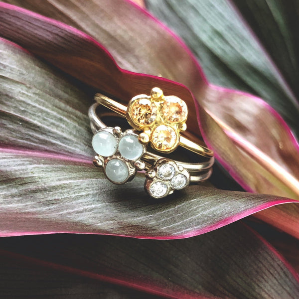Stacking Cluster Rings - InBloomJewelry
