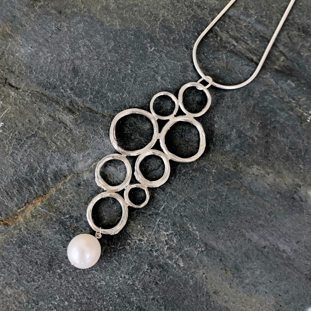 Twig Circle Large Cluster Pendant - InBloomJewelry