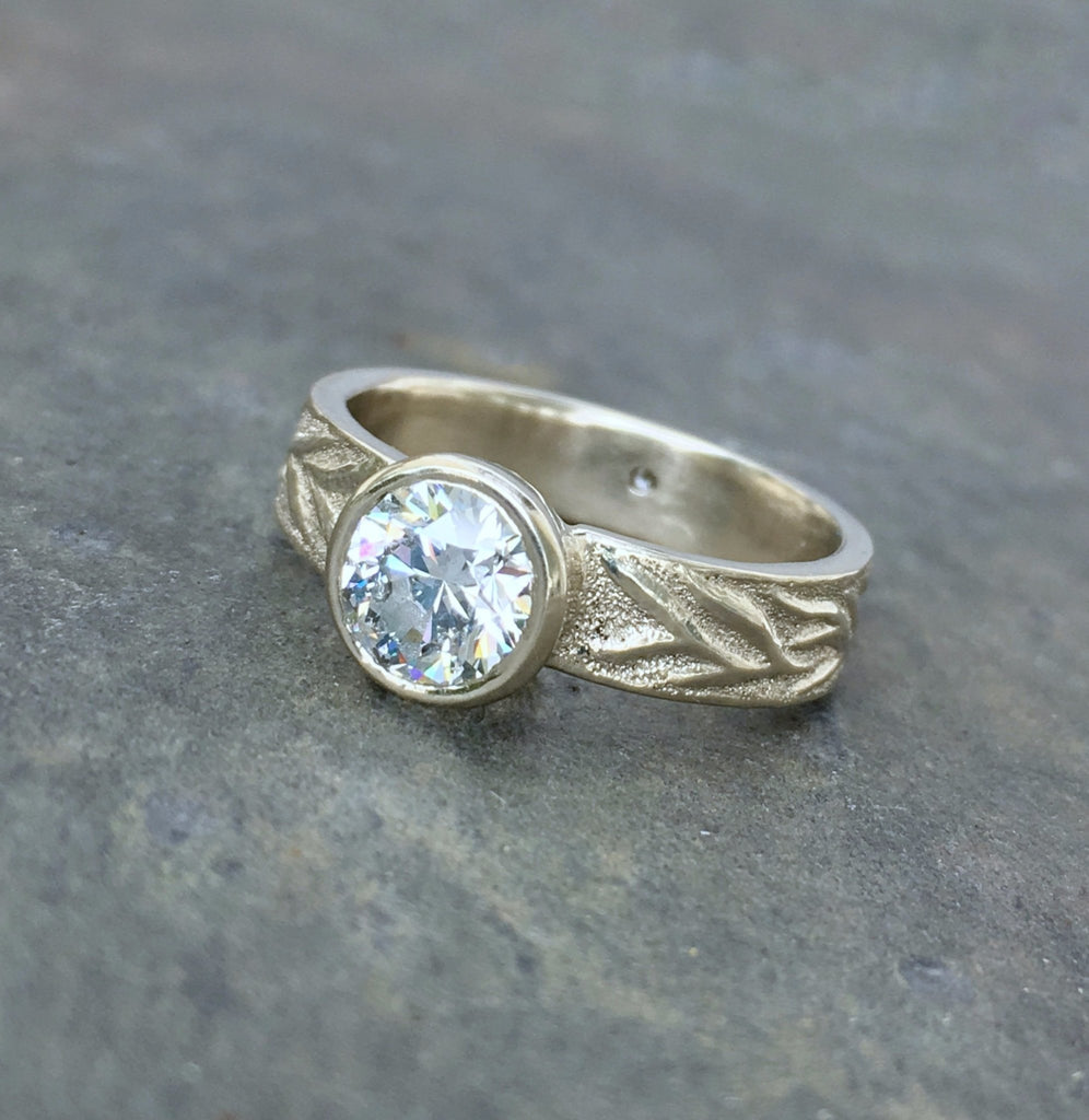 Vine Engraved Ring - InBloomJewelry