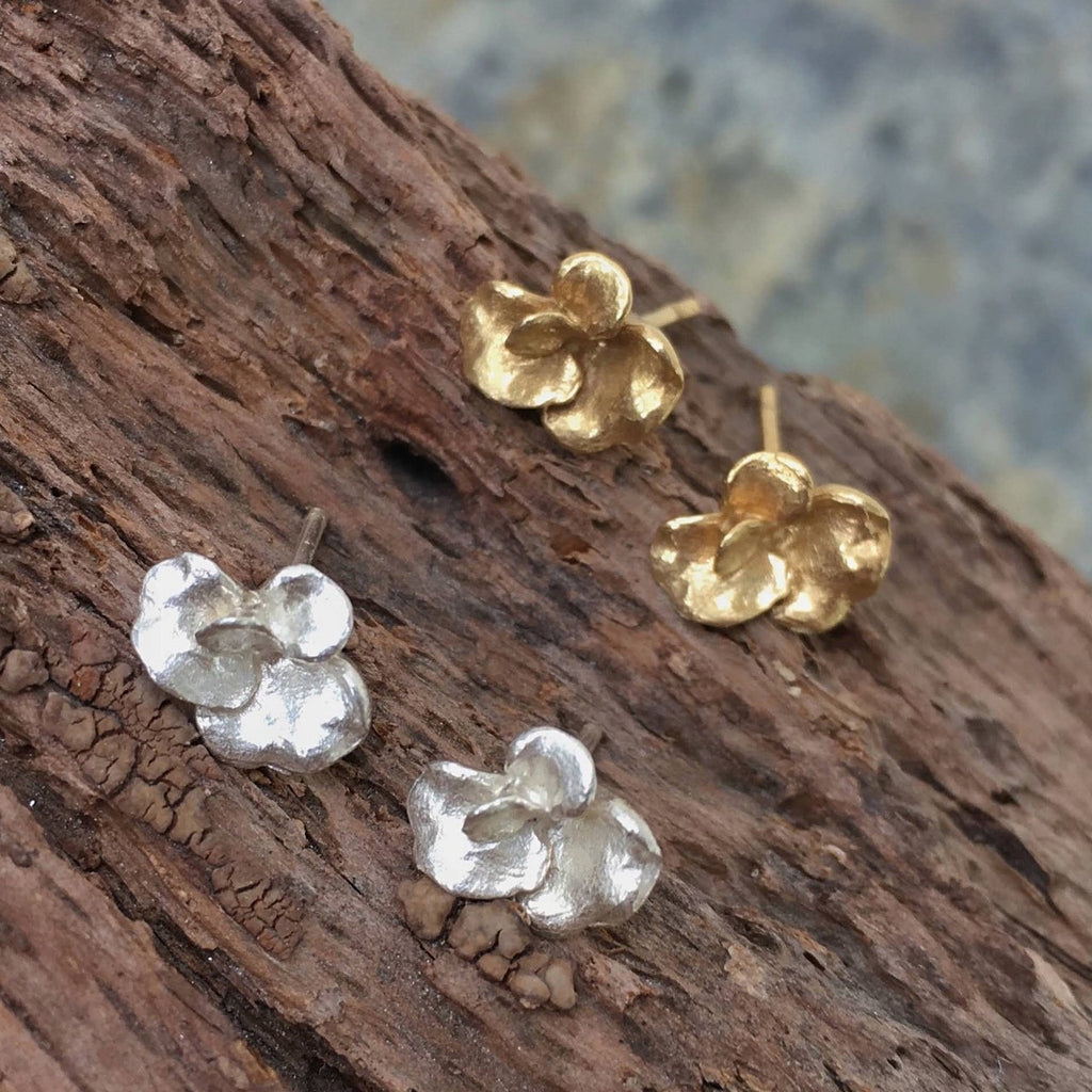 Violet Tiny Post Earrings - InBloomJewelry
