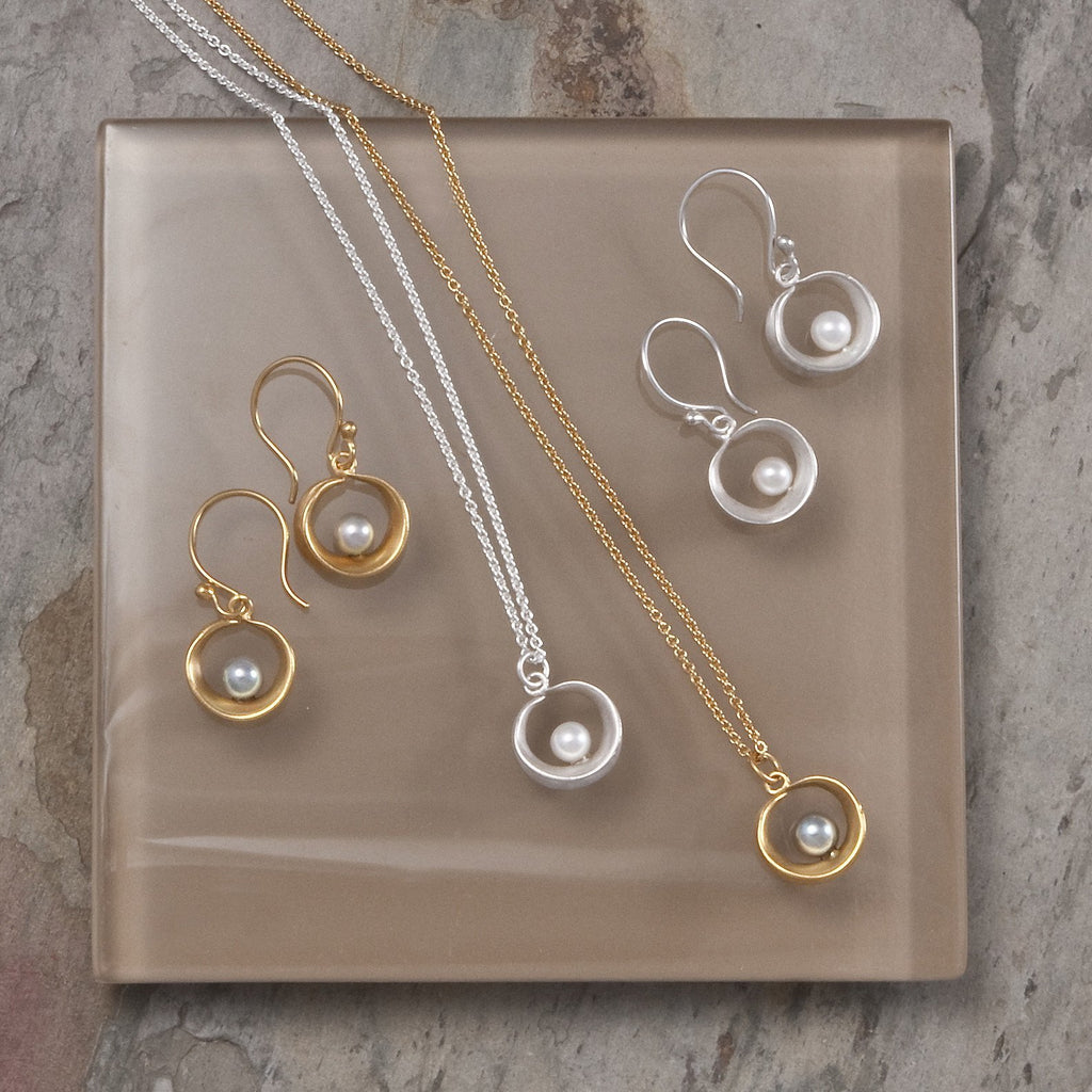 Willow Hoop Earrings and Pendant - InBloomJewelry