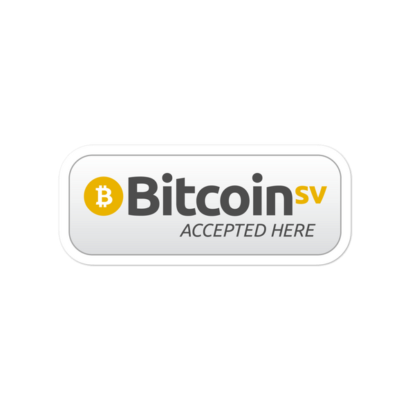 BSV Accepted Here Bubble-Free Vinyl Stickers 4x4  - zeroconfs