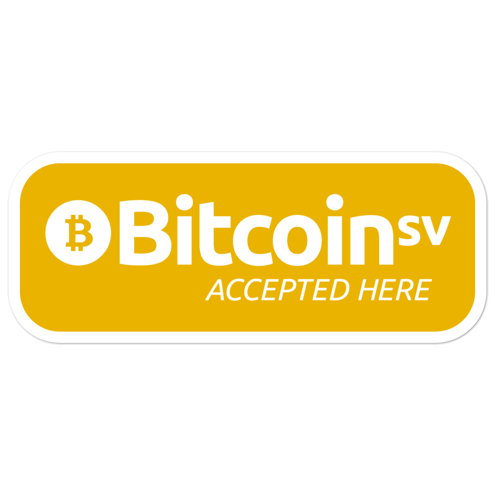 BSV Accepted Here Bubble-Free Vinyl Stickers Gold 5.5x5.5  - zeroconfs