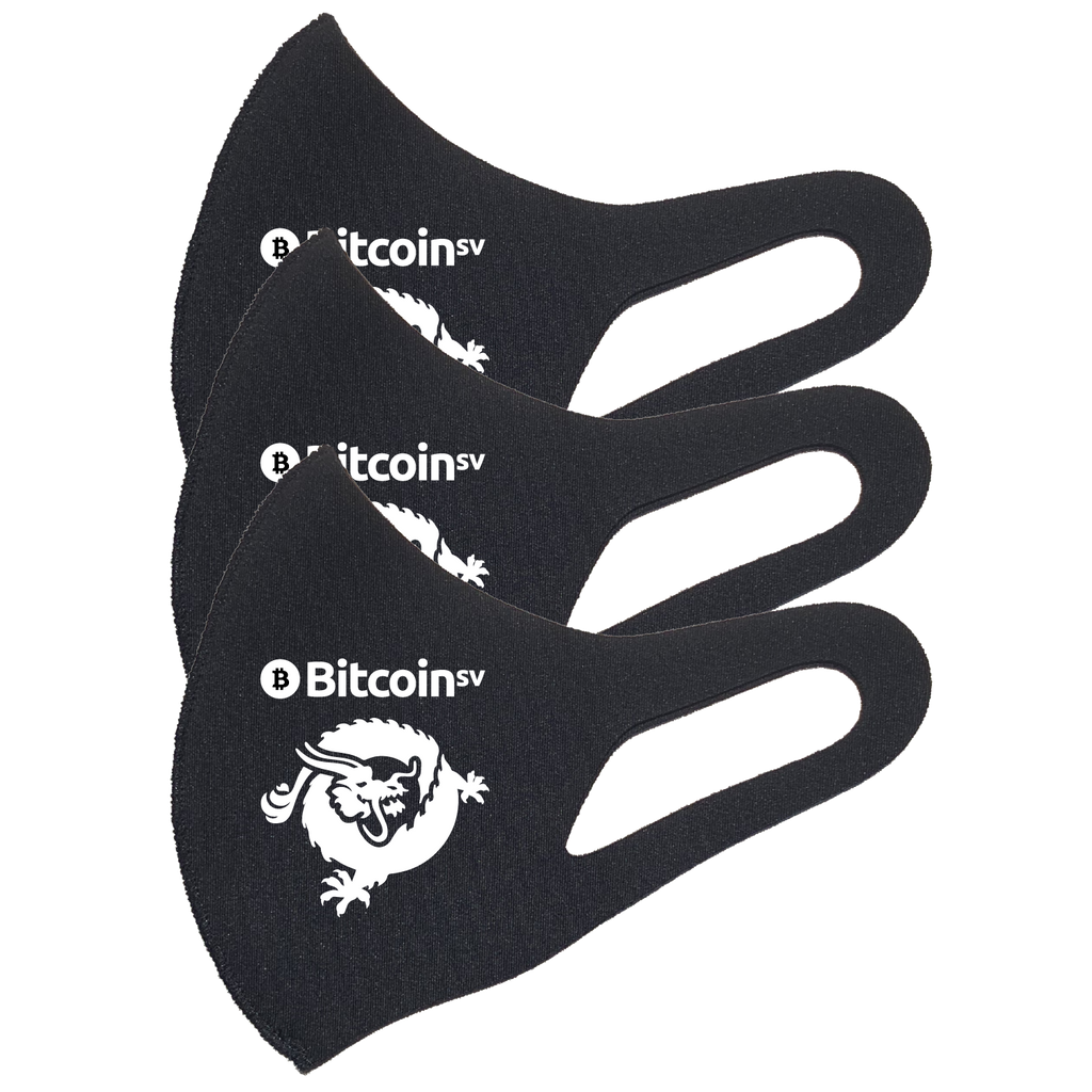 Bitcoin SV Dragon Face Mask 3D PM2.5 (Triple Pack)   - zeroconfs