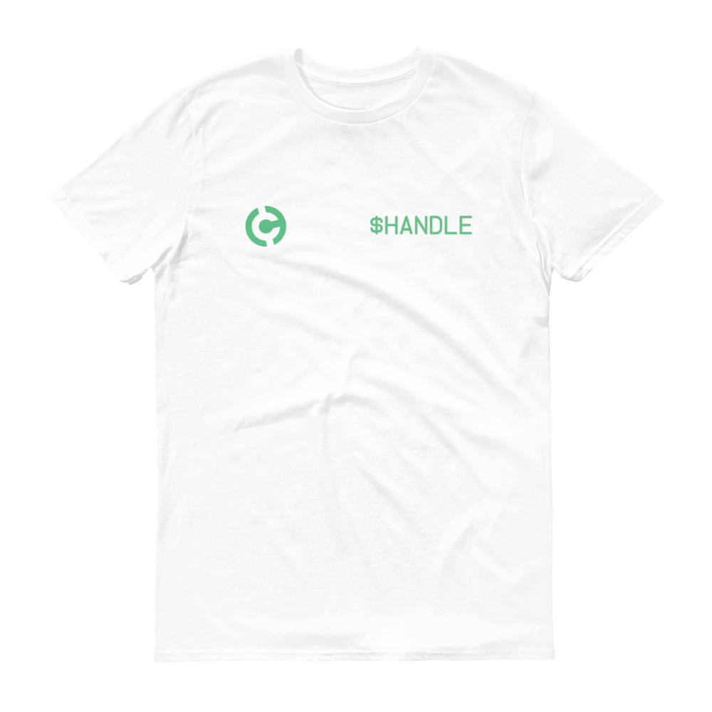 HandCash Official Customizable Short-Sleeve T-Shirt 2XL White - zeroconfs