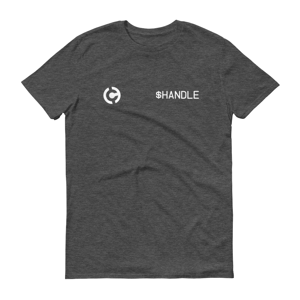 HandCash Official Customizable Short-Sleeve T-Shirt 2XL Heather Dark Grey - zeroconfs