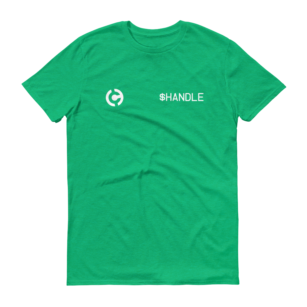 HandCash Official Customizable Short-Sleeve T-Shirt 2XL Heather Green - zeroconfs