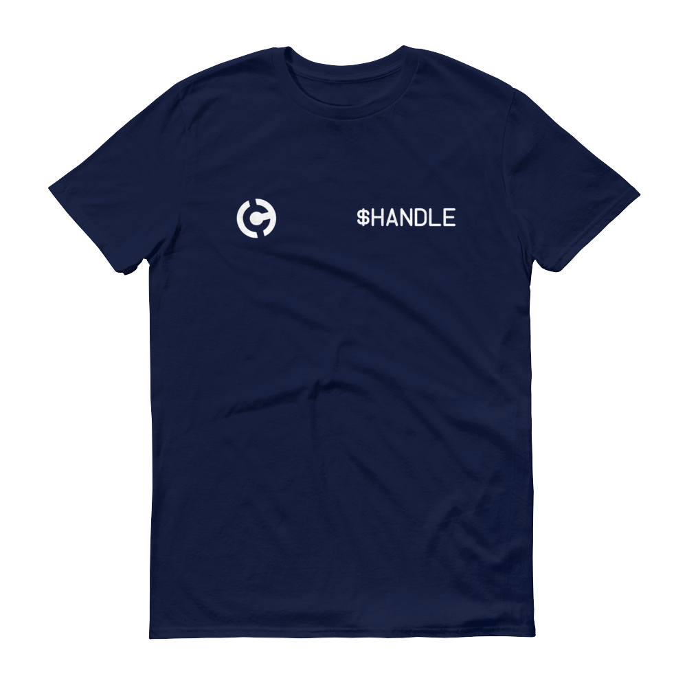 HandCash Official Customizable Short-Sleeve T-Shirt 2XL Navy - zeroconfs