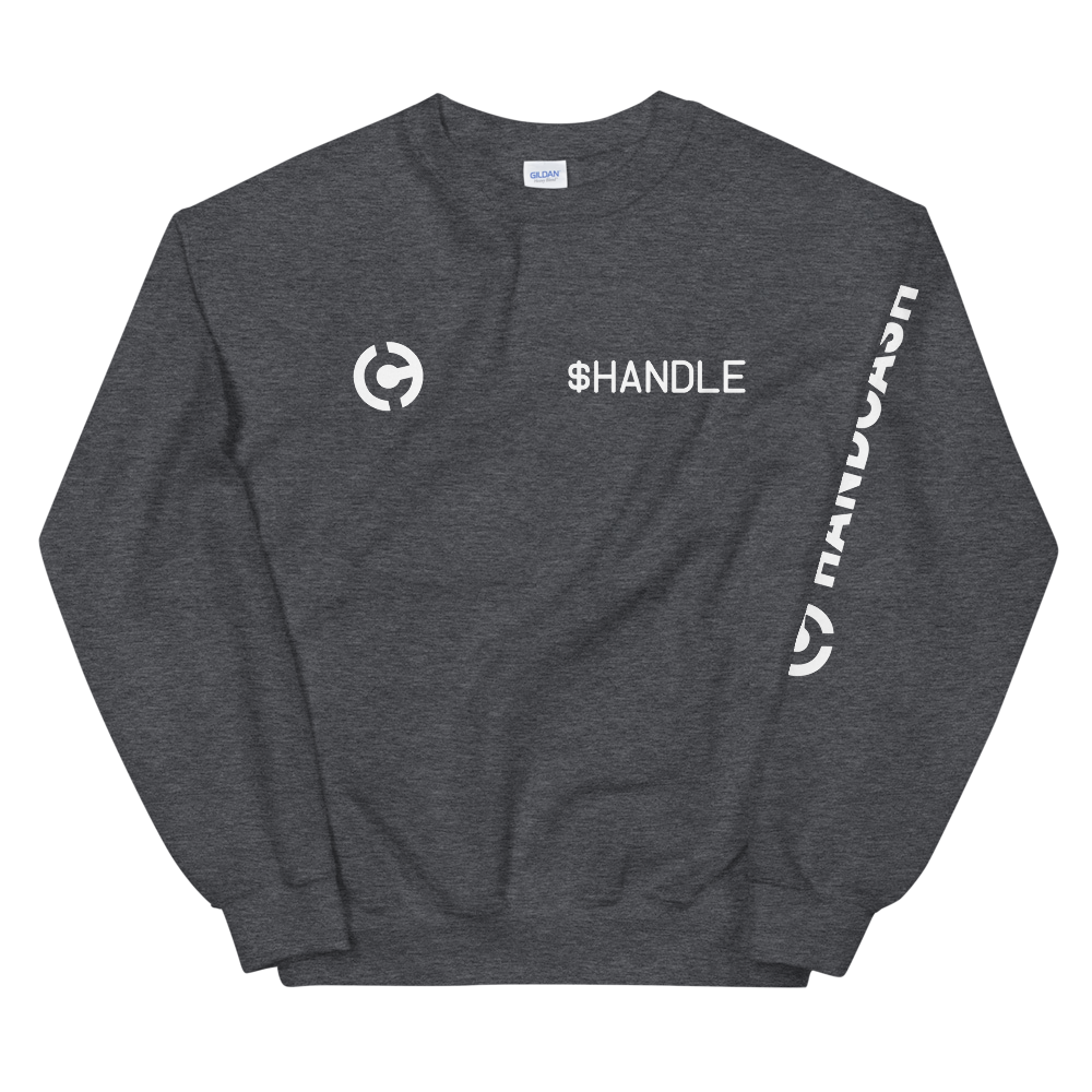 HandCash Official Customizable Sweatshirt Dark Heather S - zeroconfs