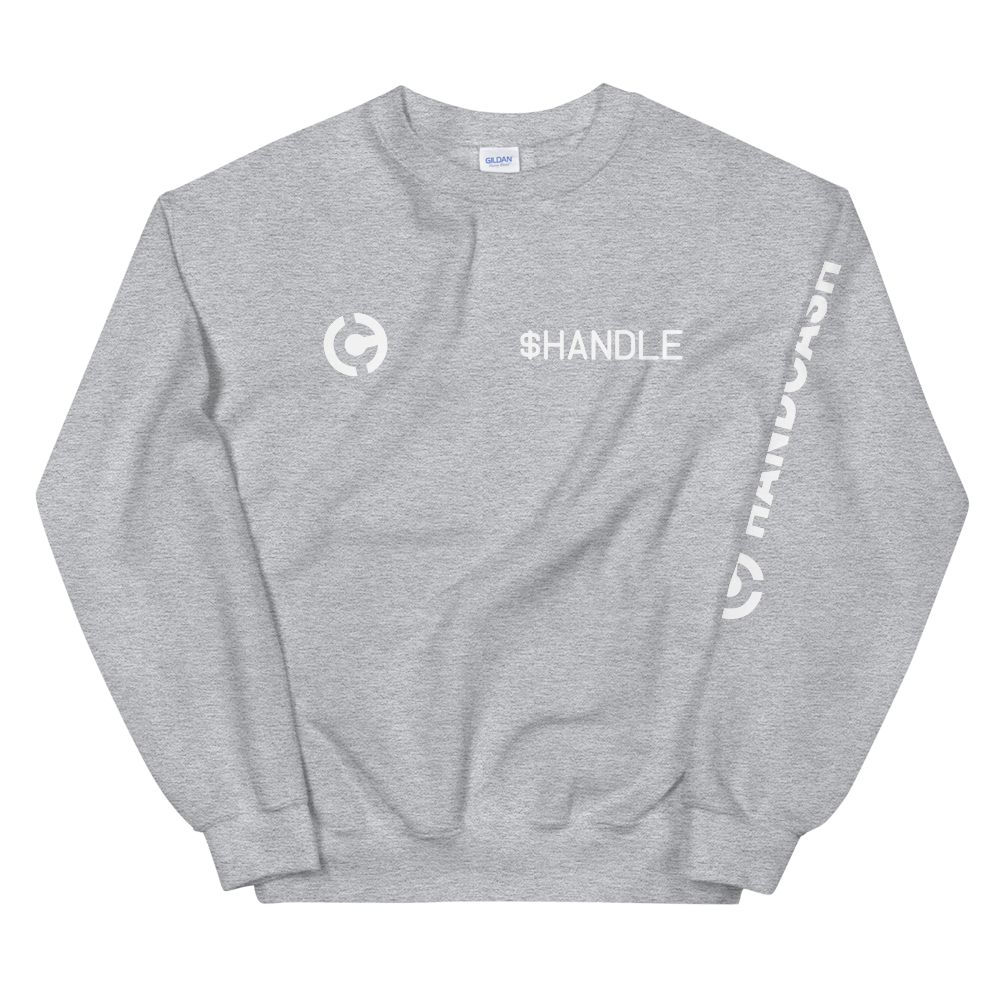 HandCash Official Customizable Sweatshirt Sport Grey S - zeroconfs