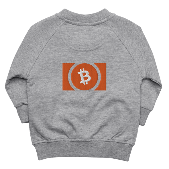 Bitcoin Cash Baby Organic Jacket Heather Grey 6-12m - zeroconfs