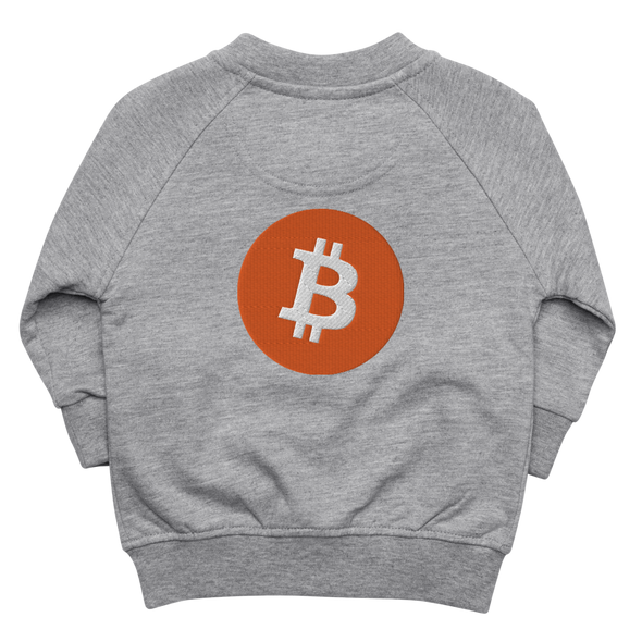 Bitcoin Core Baby Organic Jacket Heather Grey 6-12m - zeroconfs