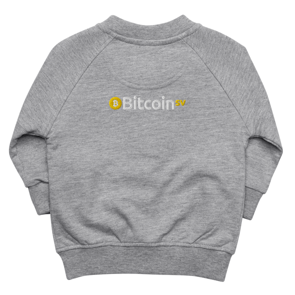 Bitcoin SV Baby Organic Jacket Heather Grey 6-12m - zeroconfs